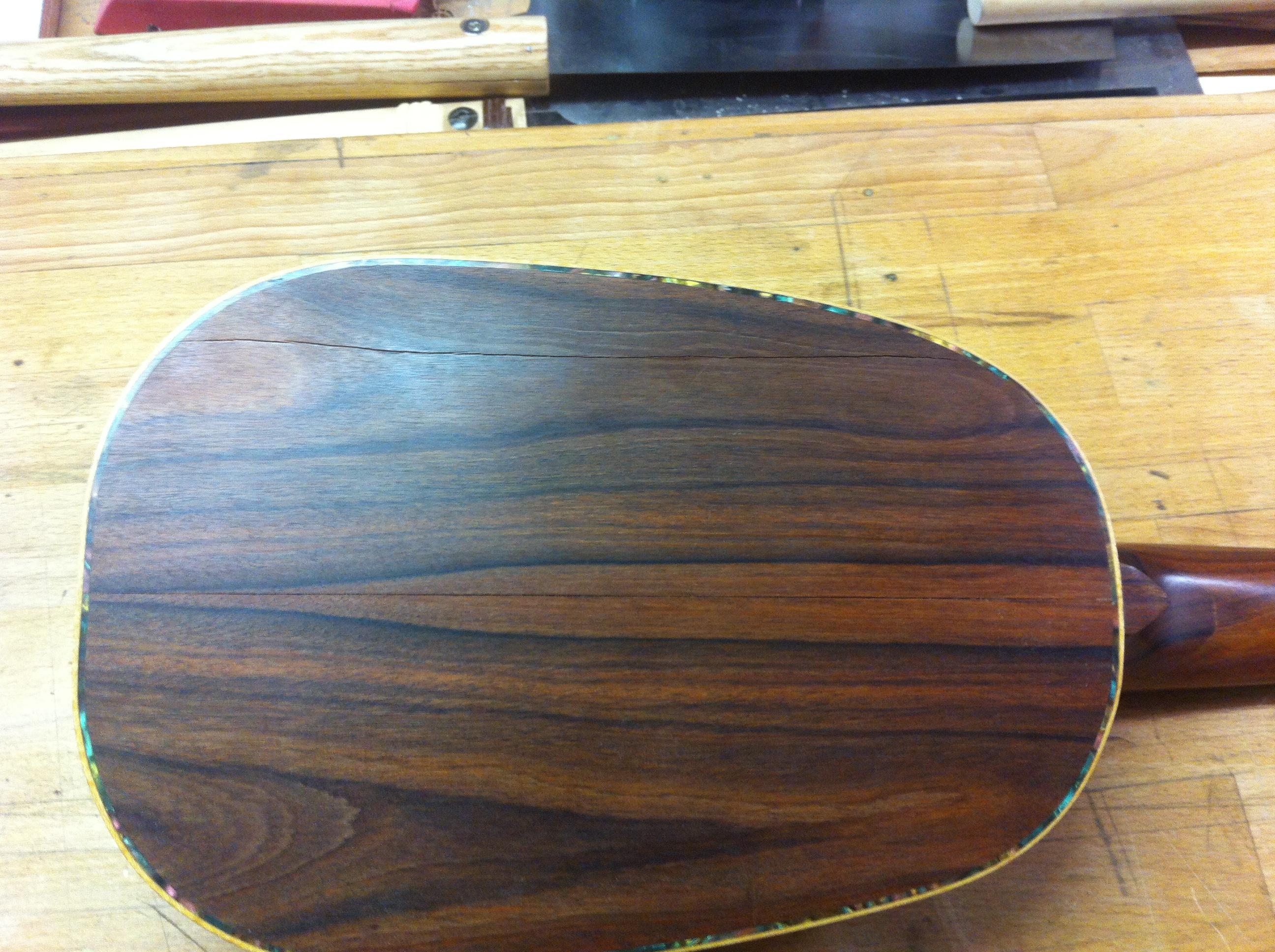 Scheur achterblad ukulele